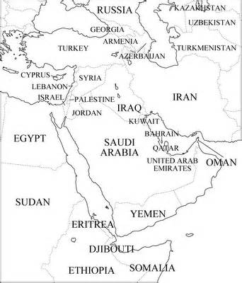 middle east outline maps map pictures