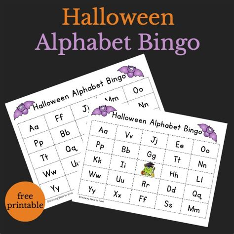 printable halloween alphabet halloween alphabet bingo