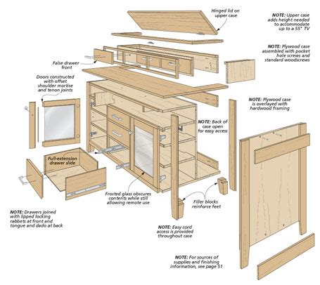 how to build a tv cabinet free plans woodsmith plans