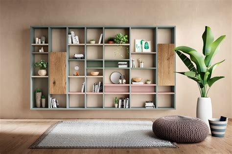 libreria salotto e soggiorno mobili di design per il soggiorno lago design