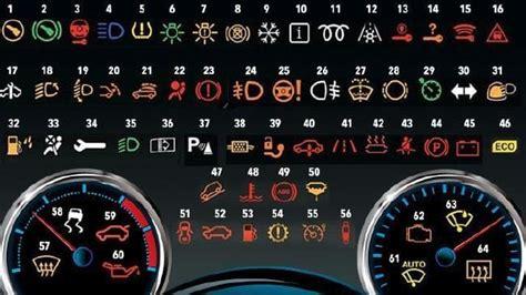 car dash warnings      symbols