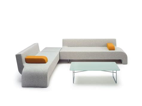 college sofas sloping legs movable armrest l shape reception layout