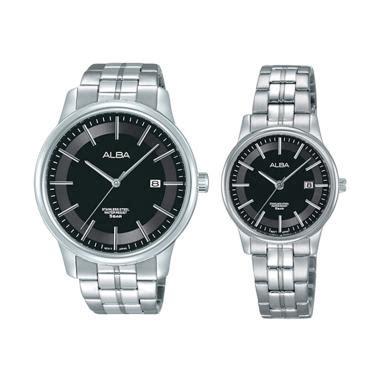 Jam Tangan Pria Alba White Black jam tangan terbaru di kategori fashion pria
