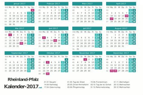 Kalender 2018 Zum Ausdrucken Mit Ferien Rlp Feiertage Rheinland Pfalz 2017