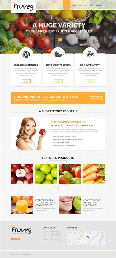 joomla template organic food the best organic products joomla template 50489
