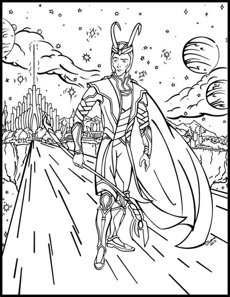 avengers coloring pages loki loki coloring book page by majorwhoabutwhy on deviantart