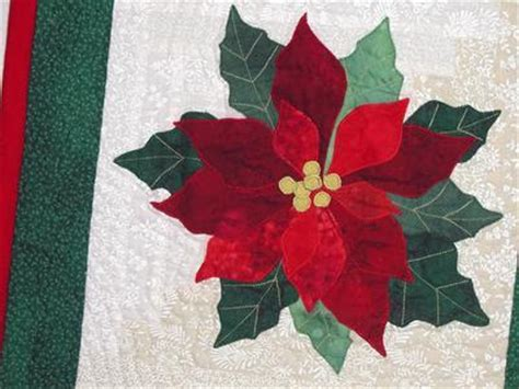 poinsettia applique quilt pattern appliq patterns