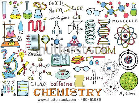 school of doodle sign up chemistry science doodle drawing isolated stock
