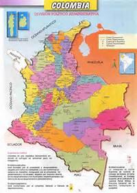Mapas De Colombia MAPA DE LA DIVISI&211N POLITICA Y ADMINISTRATIVA