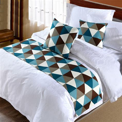 Bed Runner Ukuran 2 5 Meter 1 grid bed runner single king bedding pad flag home hotel decoration ebay