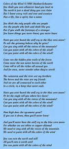 colors of the wind lyrics pocahontas colors of the wind lyrics www pixshark