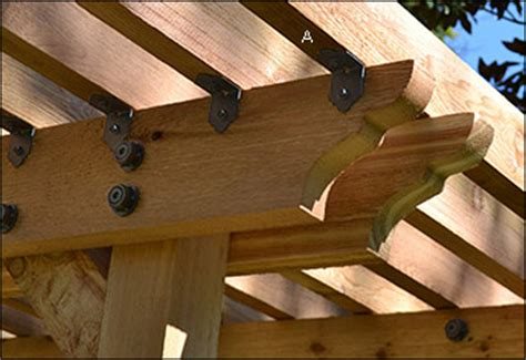 black pergola hardware supports de solive et 233 querres de fixation ozco valley tools