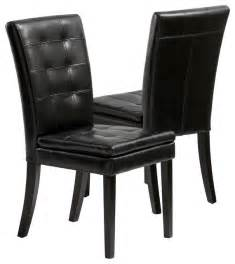 black dining room chair bartley elegant black leather dining chair set of 2 contemporary dining chairs