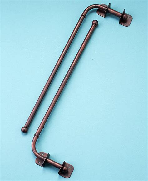 curtain swing arm rods new set of 2 bronze or black adjustable swing arm curtain