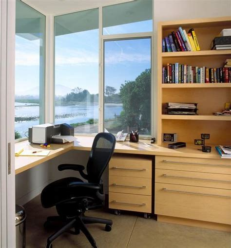 Space Saving Built In Office Furniture In Corners Home Office Built In Furniture