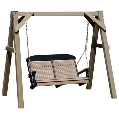 swing frames polywood 4 foot highback swing with a frame