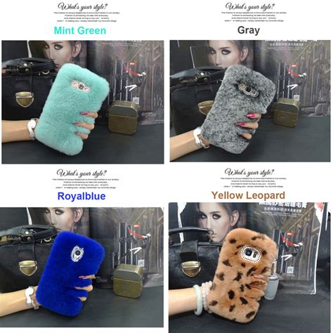 Samsung J3 J310 J5 J510 J2 J210 Envelope Vintage Retro Pouch Wallet fashion genuine rabbit fur phone cover for samsung