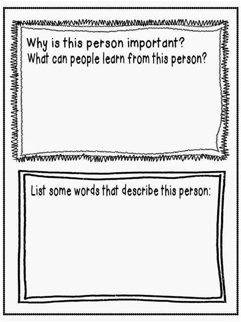 black history month biography graphic organizer getting to the heart of black history month freebie