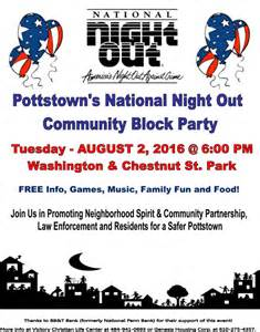 Pottstown s national night out block party roy s rants for your