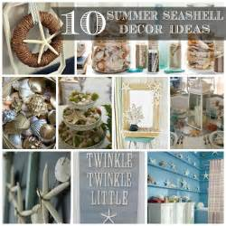 seashell decorations 10 summer seashell decor ideas