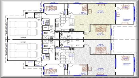 Duplex Home Plans by Duplex House Plans With Garage Duplex House Plans Designs