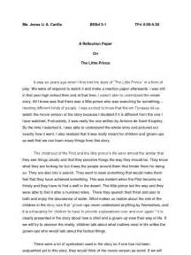 Reflective Essay Format Exle by Reflection Paper The Prince