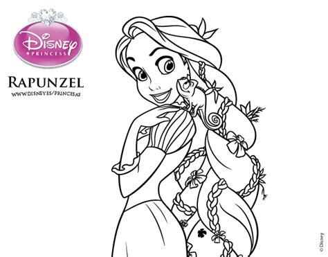 dibujos para pintar de princesas para imprimir imagui dibujo de enredados rapunzel y pascal para colorear