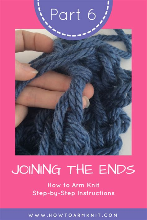 arm knitting scarf step by step how to arm knit
