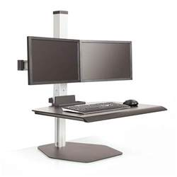 sit stand desk top workstation shop innovative winston sit stand workstations