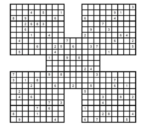 sudoku samurai para imprimir nivel difcil juego sudoku sudoku samurai dif 237 cil para imprimir 2 sudoku gratis para