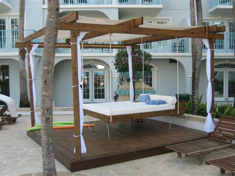 outdoor floating bed 22 creative outdoor swing bed designs for relaxation