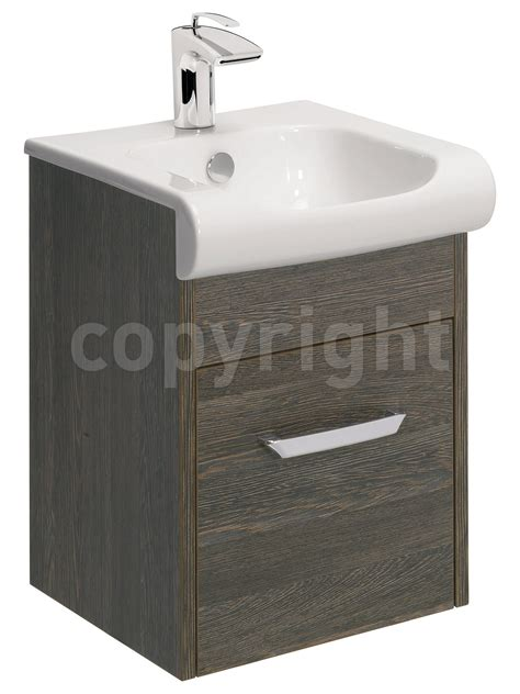 Vanity Unit Basin by Bauhaus Essence 400mm Wall Hung Vanity Unit And