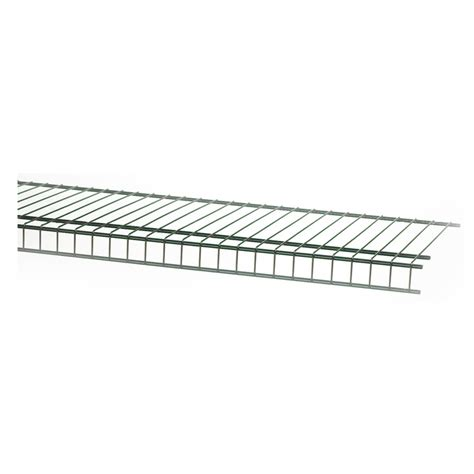 Wire Rack Shelving Lowes by Shop Closetmaid 6 Ft L X 12 In D Black Wire Shelf At Lowes