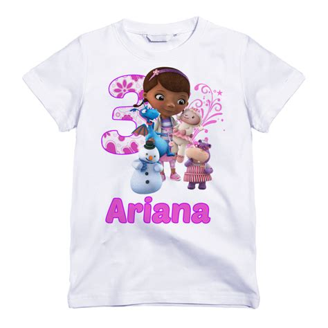 birthday themed shirts personalized doc mcstuffins themed birthday shirt