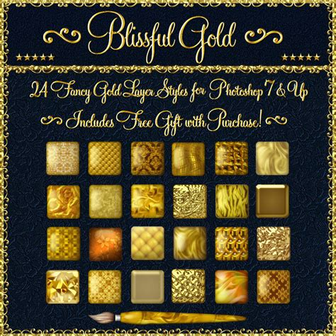 pattern layer style photoshop blissful gold layer styles for photoshop 7 above w free