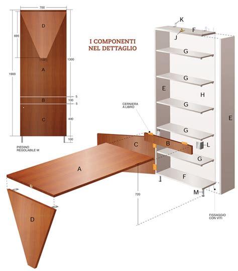 scrivania a muro ribaltabile come costruire una scrivania da parete bricoportale fai