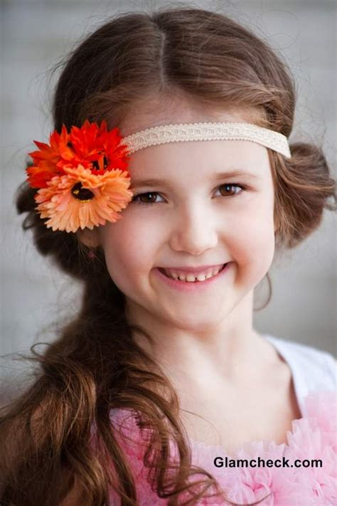 elastic hair band hairstyles flower hair elastic bands for little girls kids