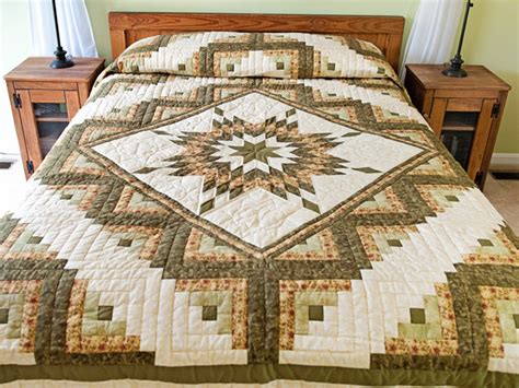 Lone Log Cabin Quilt Pattern by Lone Log Cabin Quilt Superb Cleverly Made Amish
