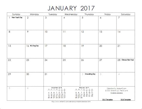New 2017 Printable Calendars Print Blank Calendars 2017 Calendar Template Pdf