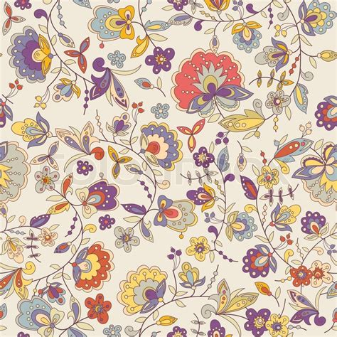 cute seamless pattern wallpaper cute colorful floral seamless pattern with abstract flower