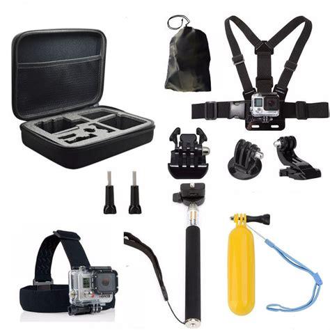 Gopro Set aliexpress buy gopro 5 accessories set sj4000 go pro 4 3 2 1 black edition sjcam