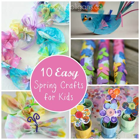 simple home decor crafts 10 easy spring crafts for toddlers and preschoolers happy