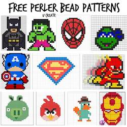 bead templates free perler bead patterns for u create