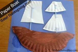Paper Boat Craft For Preschoolers - paper boat easy thanksgiving craft