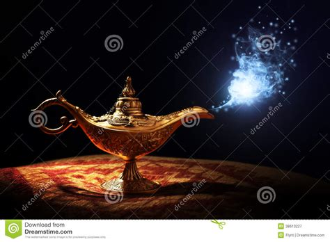 magic aladdins genie lamp royalty  stock photography