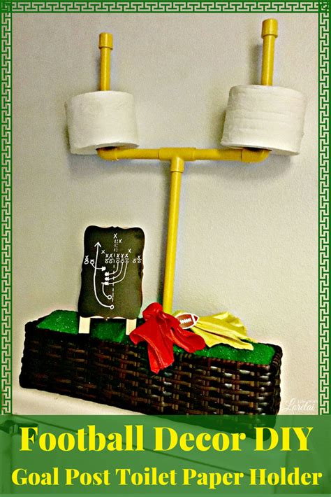 football decor diy goal post toilet paper holder for the