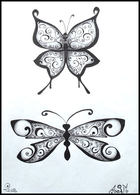 crayon tattoo butterfly dessin crayon drawing papillon