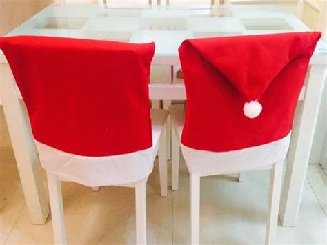 2pcs of christmas chair covers of santa claus free