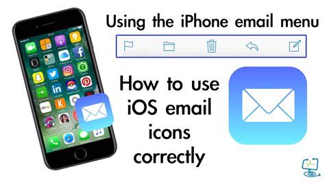 how to use iphone email menu and icons