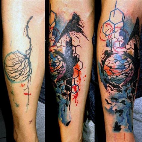 watercolor tattoos guys 100 watercolor designs for cool ink ideas